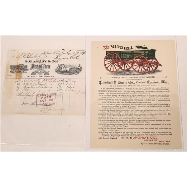 Mitchell Farm and Spring Wagons Advertisement and Billhead  [140153]