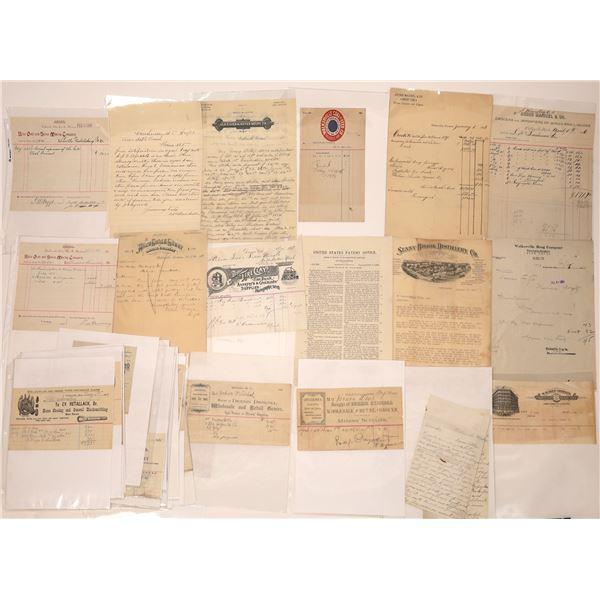 Walkersville, MT Billheads, Letters (Approx. 25)  [140524]