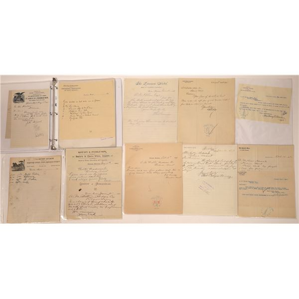 Winston & Other Town Bill & Letterheads (Approx. 20)  [140531]