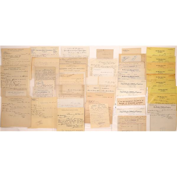 Letter & Billheads from Various Small Montana Towns (40)  [128982]