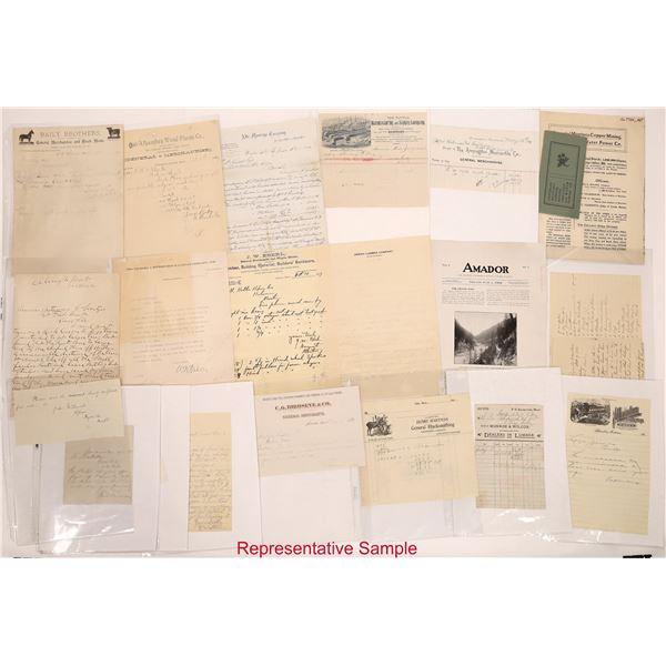 The Montana Monster Alphabetic Billhead Collection   [140406]