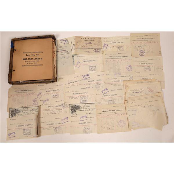 Morris State Bank Original Business Correspondence File   [140695]