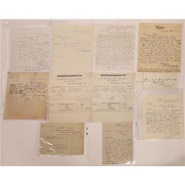 Montana Fort Correspondence Collection  [141141]