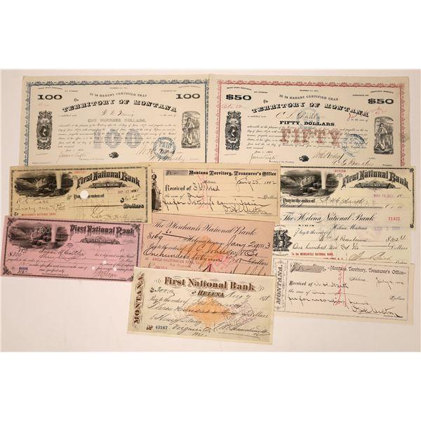 Montana Territory Receipts and Warrants  [138478]