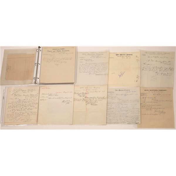 Various MT. Billheads, Letterheads, Etc. (Approx.45)  [140529]