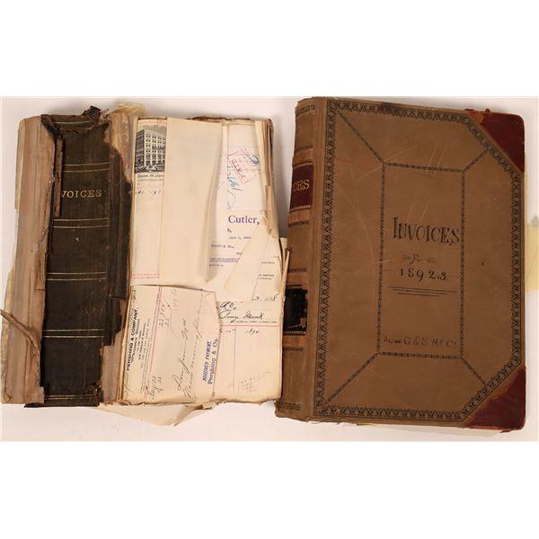 Original Montana Invoice Books 1892-97 (2)  [139937]