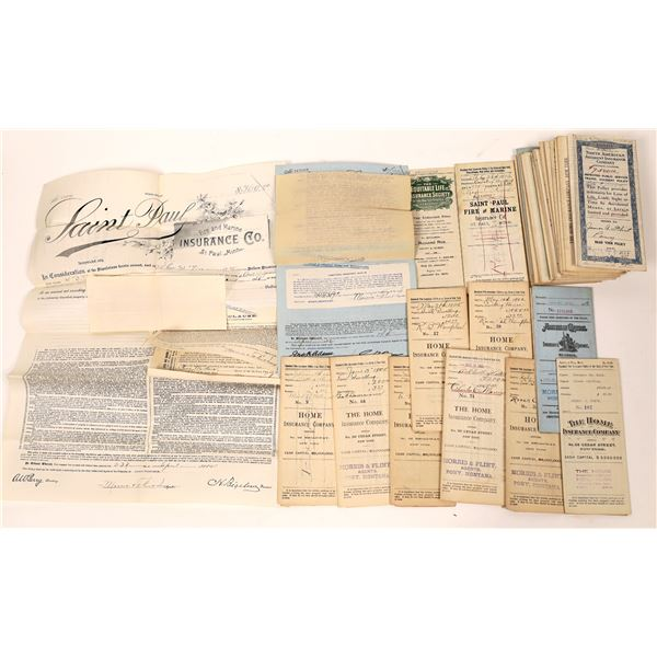 Vintage Insurance Policy Contracts Issued by Montana Agents  [140047]