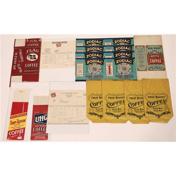 Vintage Montana Coffee Packaging Collection  [139983]