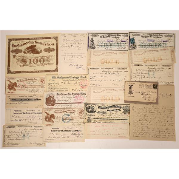 Virginia City and Carson Ephemera Collection  [138462]