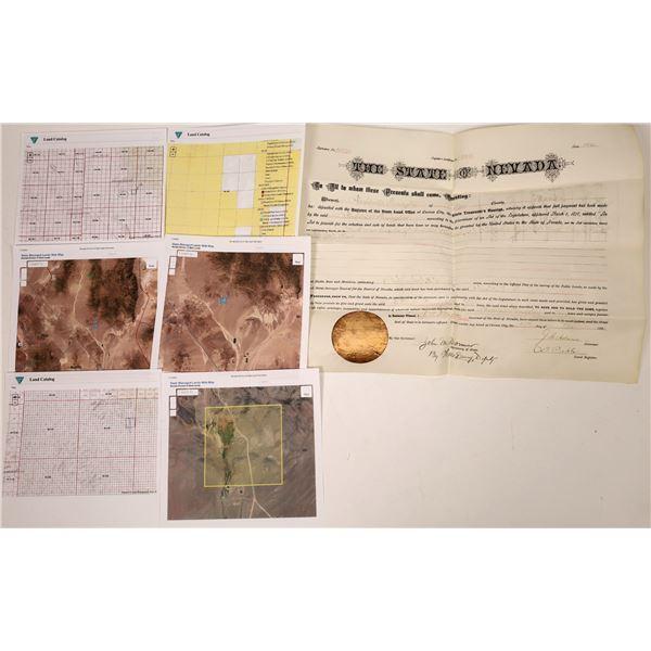 Nye County Land Patent 1883  [138520]