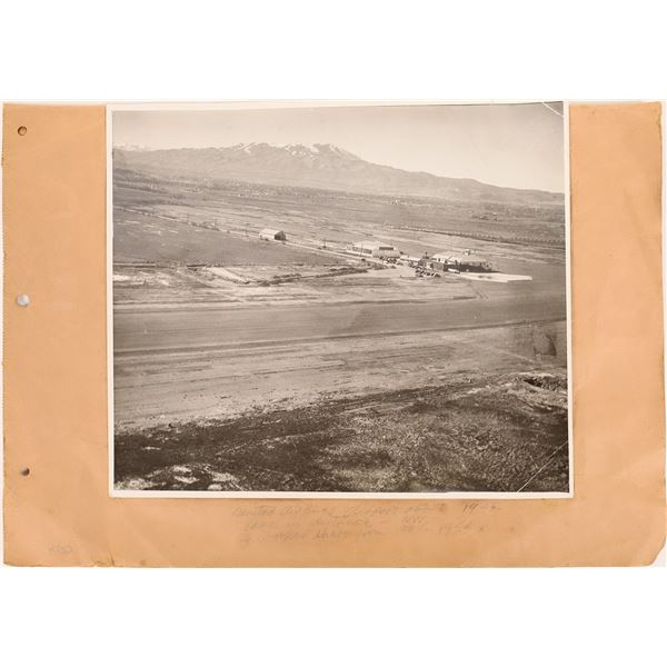 Reno Airport and United Airplane Original 1945 Photographs (2)  [140741]
