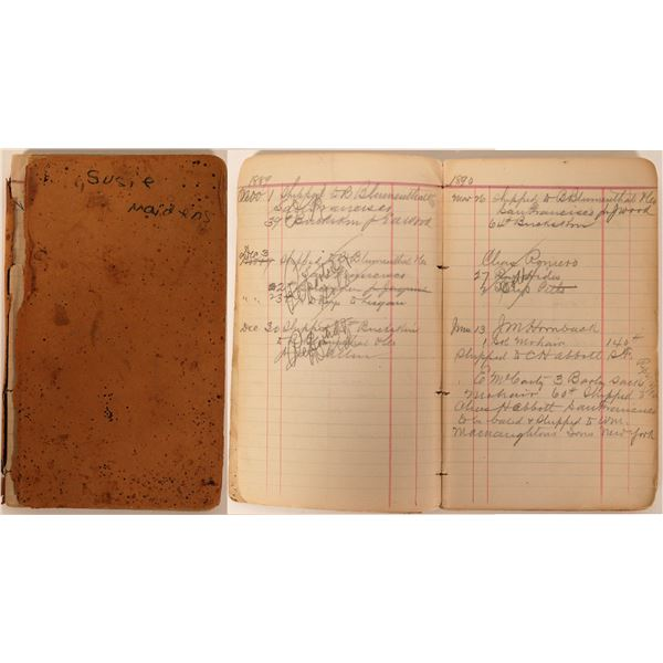 Nevada Handwritten Shipping Record Notebook  [138270]