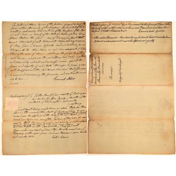 New Hampshire Woman Accused of Purchasing Stolen Goods, 1792  [130551]