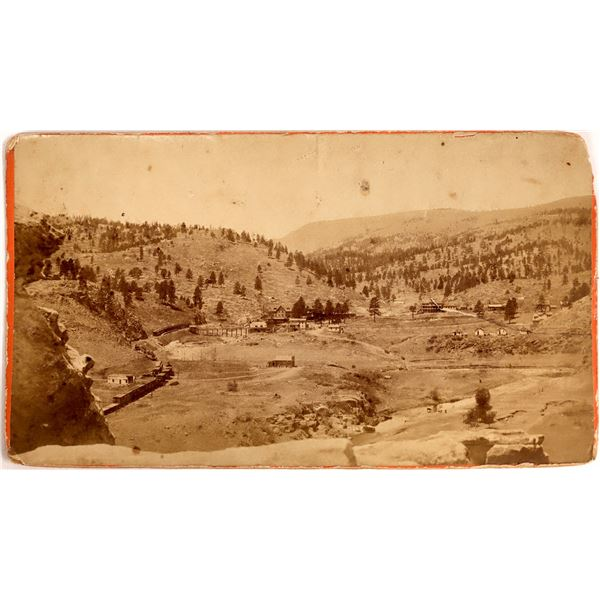 Early Photograph of Las Vegas Hot Springs  [137890]