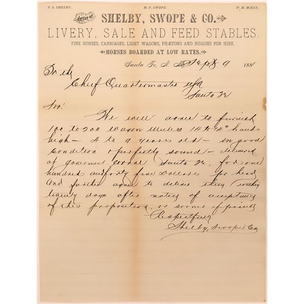 Bill for Mules Purchased by U.S. Government  [140483]