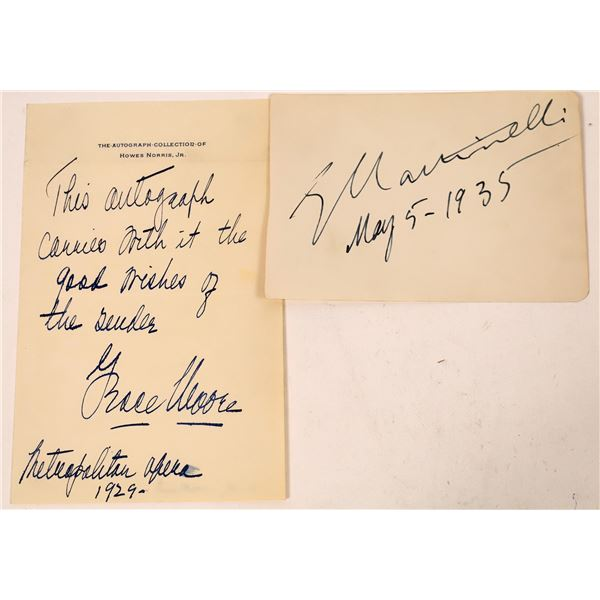 Two Opera Star Signatures (2)  [131746]