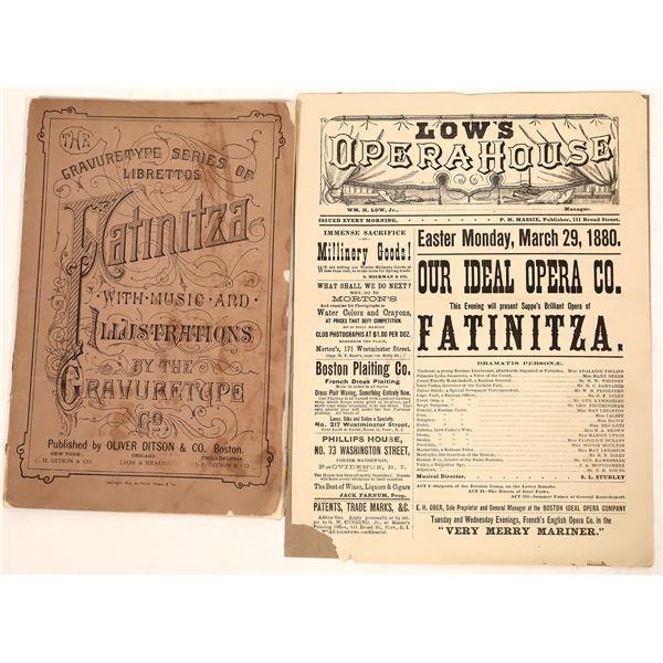 Broadside Ad & Libretto for 1879 Opera  [127006]