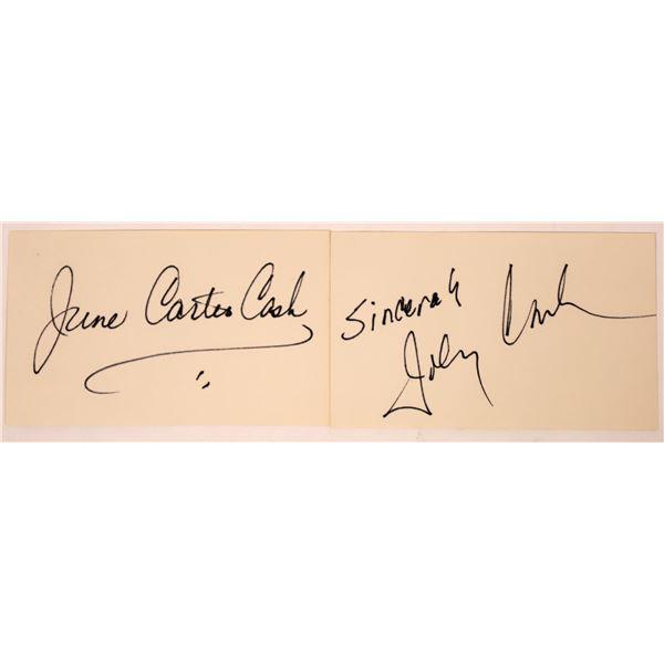 Johnny & June Carter Cash Autograph Cuts  [131722]