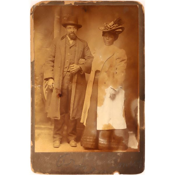 African American Couple Cabinet Card  [139264]