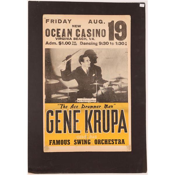 Original Gene Krupa Concert Poster  [139554]