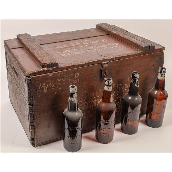 Original c1900 Beer Crate with Embossed Bottle Contents  [139438]