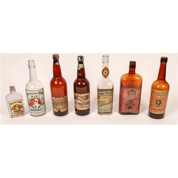 Original Paper Label Group of Beers and Whiskeys c1890-1910 (7)  [139875]