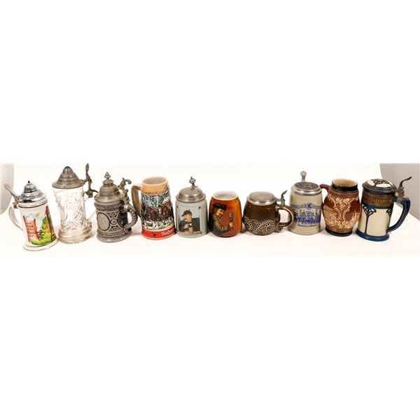Collection of Ten Beer Steins (10)  [139359]