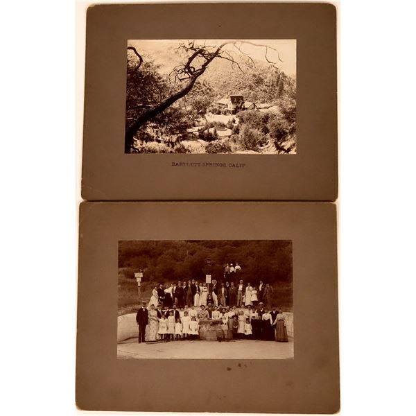 Two Mounted Photographs of Bartlett Springs (Mineral Water)  [138153]