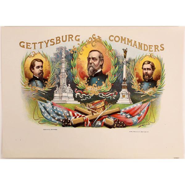 Gettysburg Commanders – Cigar Box Label, c1890  [130550]