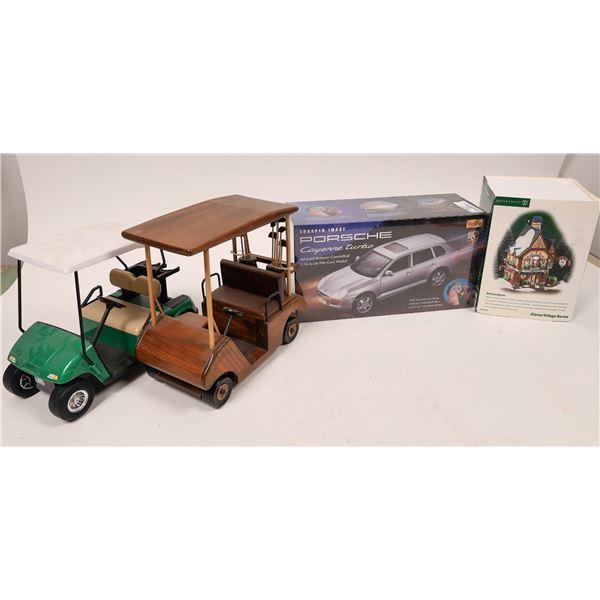 Die Cast 1/18 Porsche, Alpine Village Shoppe, Golf Carts  [139820]