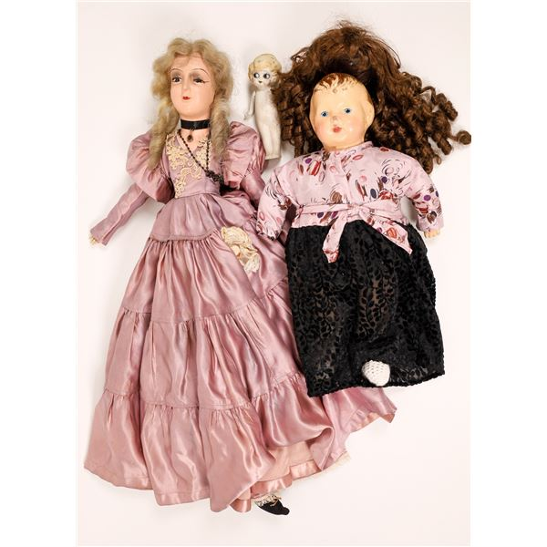 Antique Keen-Eye Boudoir Doll with Little Friends  [138409]