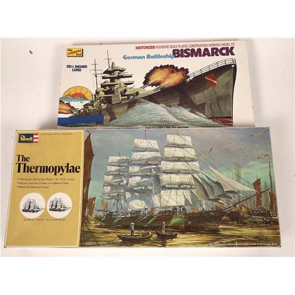 "Bismarck & Clipper Ship 36"" Model Kits (2)  [139365]"