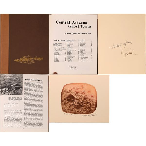 """""""Central Arizona Ghost Towns"""" by Spude and Paher Artists Proof Edition   [139027]"""