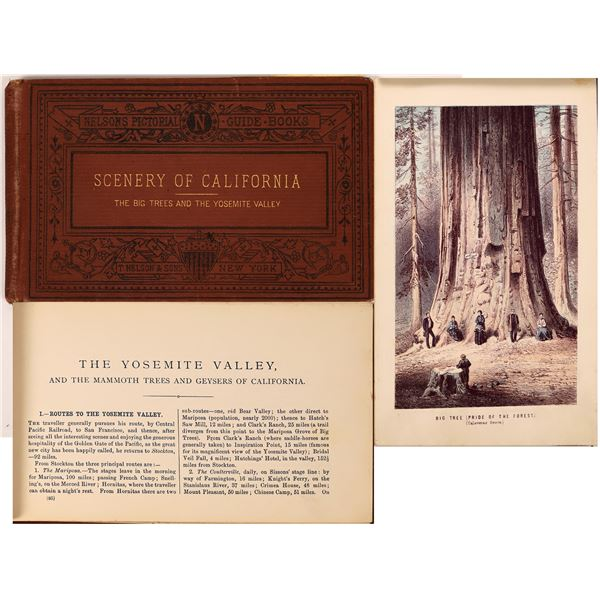 Nelson's Pictorial Guide Books The Big Trees and the Yosemite Valley  [138456]
