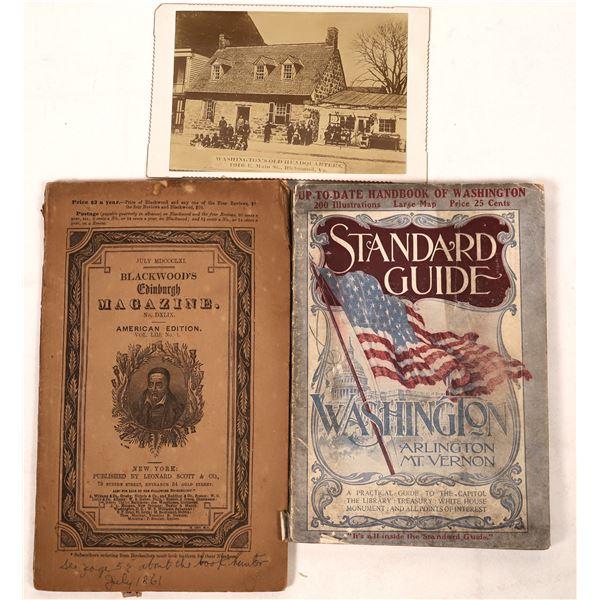Old English Magazine & Washington D.C. Guidebook (2)  [127007]