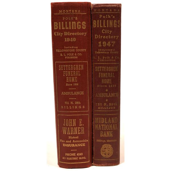 Billings, MT City Directories (3)  [139542]