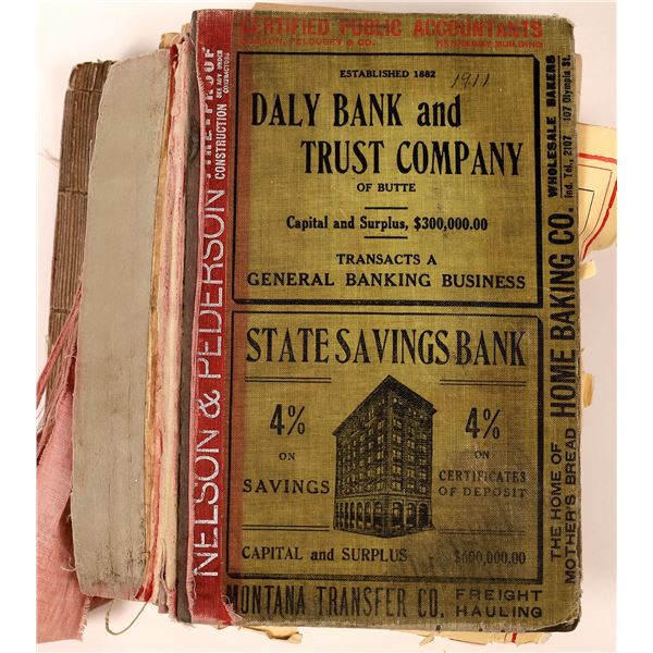 1911 Butte Business Directory In Pieces  [140031]