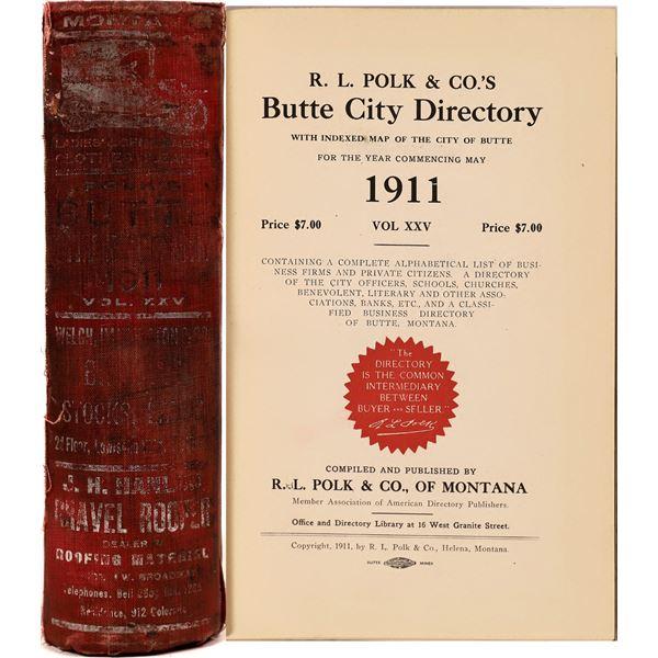 Butte, MT 1911 Polk City Directory  [139579]
