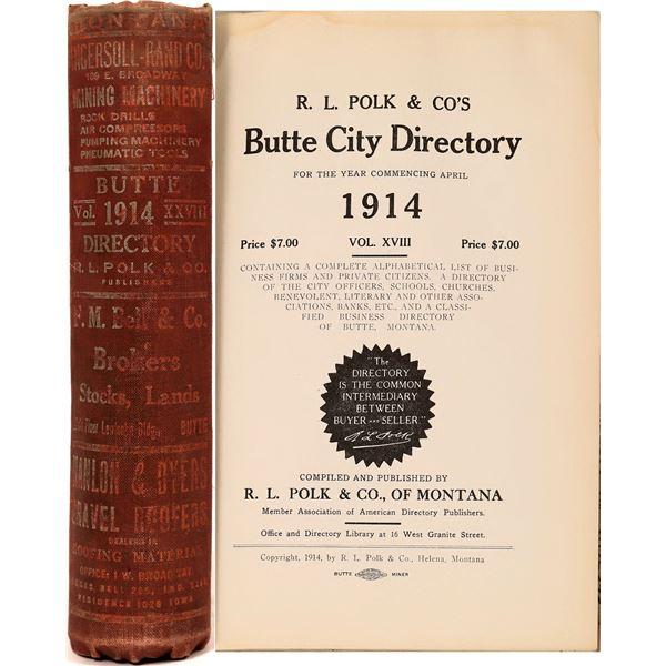 Butte, MT 1914 City Directory  [139578]