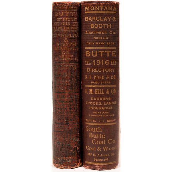 Polk Butte, MT Directories for 1916 & 1918 (2)  [139594]