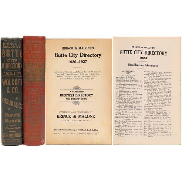 Brinks & Malone Butte, MT City Directories (2)  [139595]