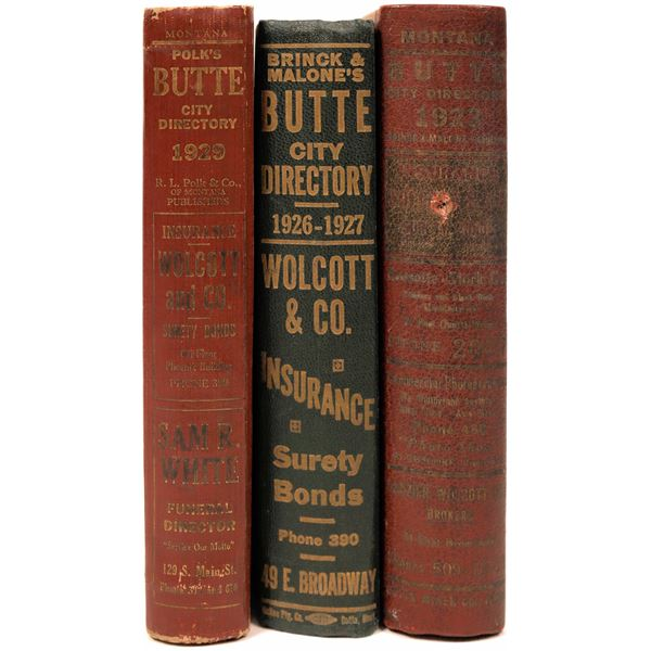 Butte City Directories for 1923, 1926-27 & 1929  [139562]