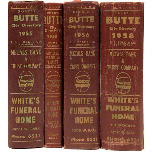Polk's Butte, MT. Directories 1950's (4)  [139612]