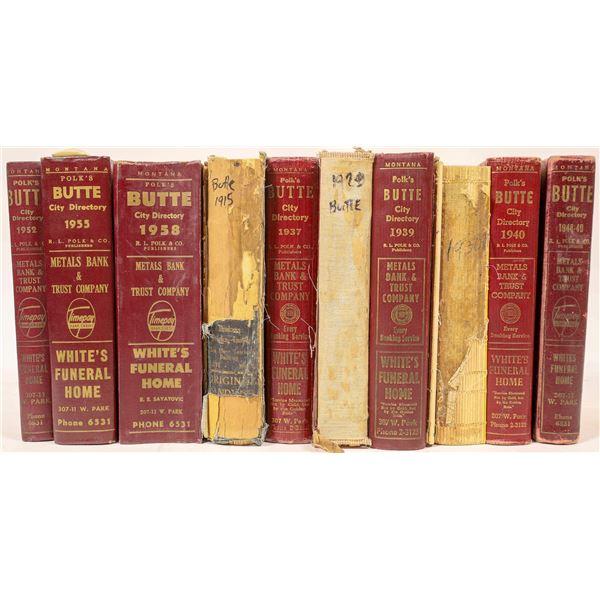 Polk's Butte Montana City Directories (10)  [139555]