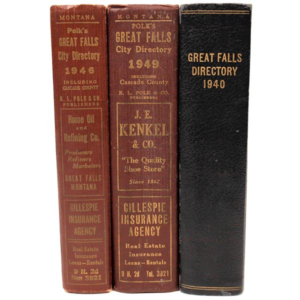 City Directories Great Falls, Mt. 1940, 46, 49 (3)  [139586]