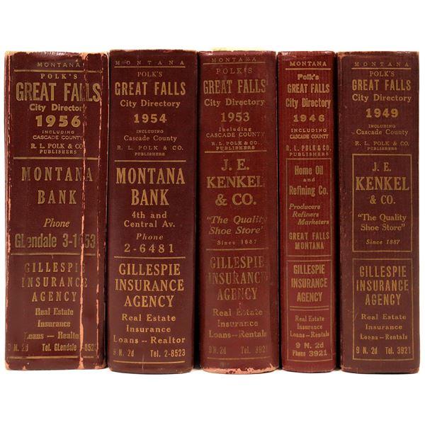 Great Falls City Directories 1946, 49, 53,54 & 56 (5)  [139614]