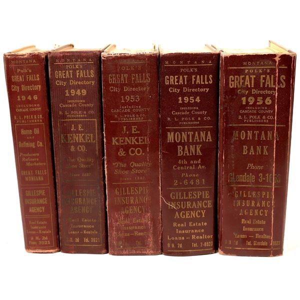Great Falls City Directories Mid-1950's (5)  [139547]