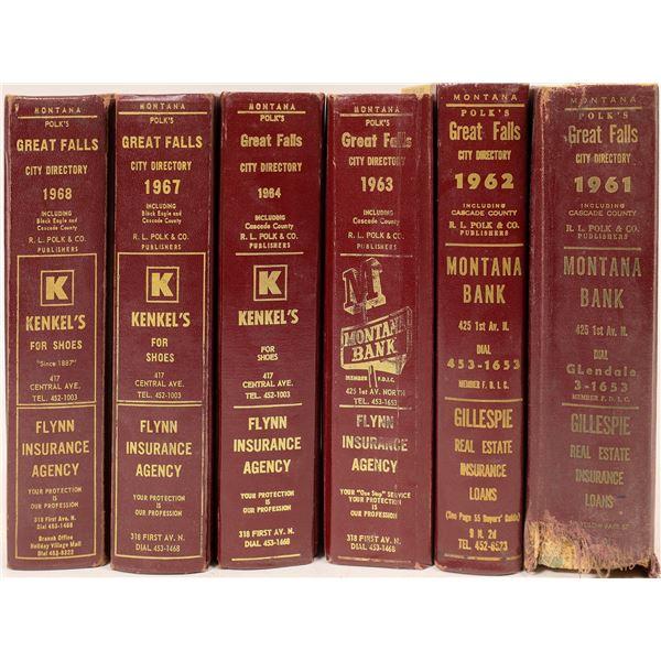 Great Falls, MT 1960's City Directories (6)  [139558]