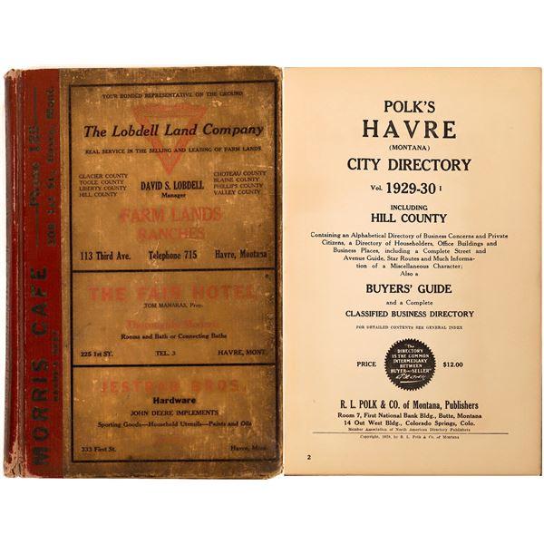Havre, MT. Business Directory of 1929-33  [139620]