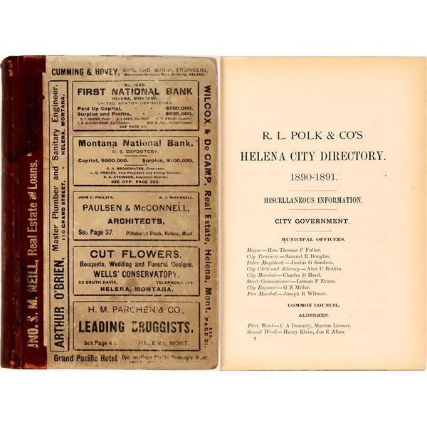 1890 Polk Helena, MT. City Directory  [139606]
